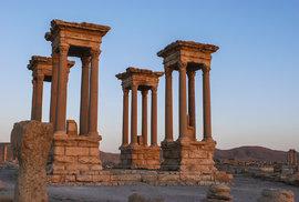 Tetrapylon v Palmýře, Sýrie v roce 2007