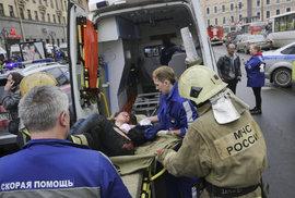Zranění po výbuchu v Petrohradě