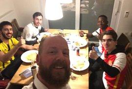 Fanoušci Dortmundu a Monaka u společné večeře