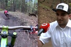 Nebojácný Ostravák. Cyklista, kterého na Slovensku honil medvěd, se vrátil na místo činu
