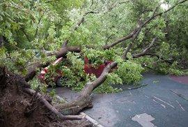 Následky uragánu v Moskvě
