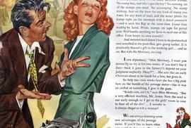 3. Reklama na značkovač obálek se ptá: Je vždy nelegální zabít ženu?