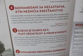 Ve slovenských kostelích propagují knihu, která tvrdí, že korán je ďábelský a plný nemravnosti