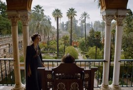 Sídlo rodu Martell, tzv. Sluneční oštěp, je ve skutečnosti královský palác Alcázar v Seville.