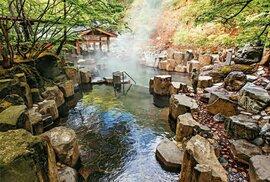 Onsen Takaragawa využívající vodní tok řeky Takaraga