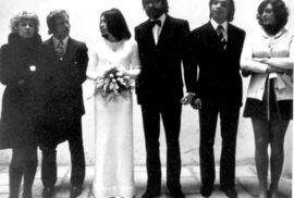 Svatba Marty Kubišové, kterou si nenechala ujít přátelé - Václav a Olga Havlovi.