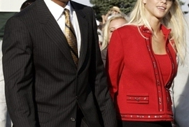 Tiger Woods a jeho žena Elin Nordegren