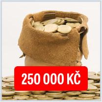 Hlavní výhra 250 000 Kč