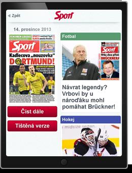 Sport aplikace