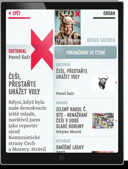 reflex tydenik aplikace