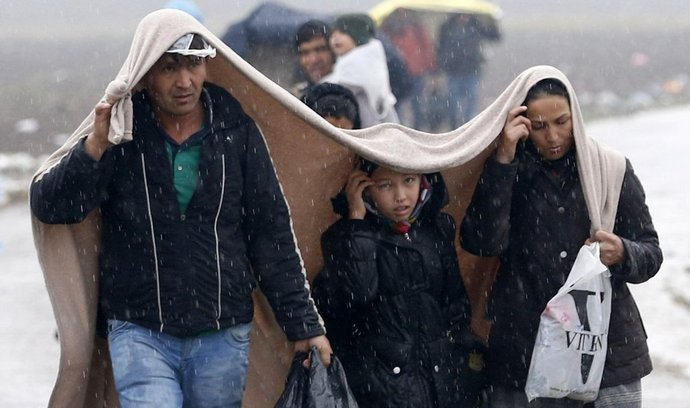 Migranti na pomezí Srbska a Chorvatska