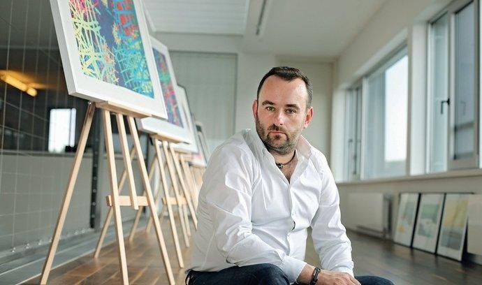 Michal Bařina v sídle firmy Global Marketing