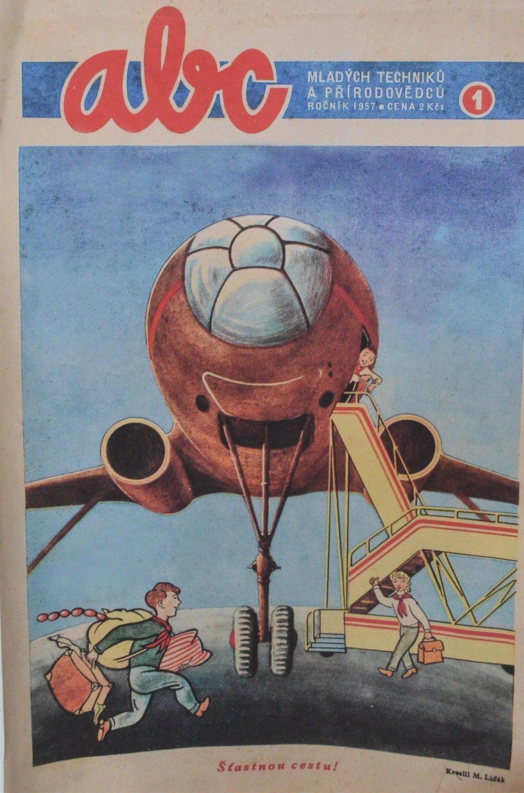 1957 Titulní stránka prvního vydání časopisu ABC.