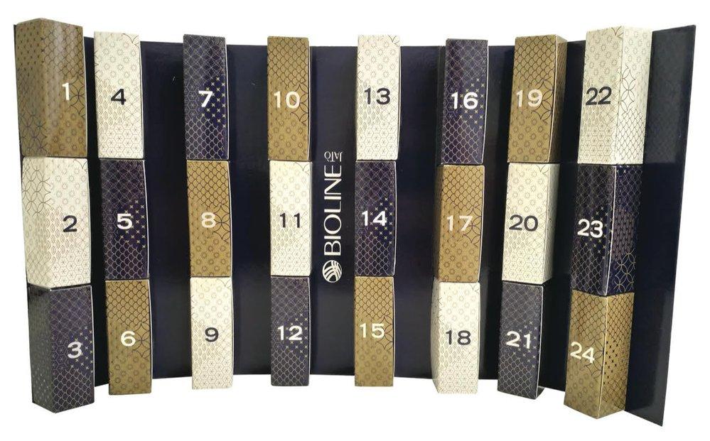 Adventní kalendář plný luxusních pleťových krémů, Bioline, 2211 Kč