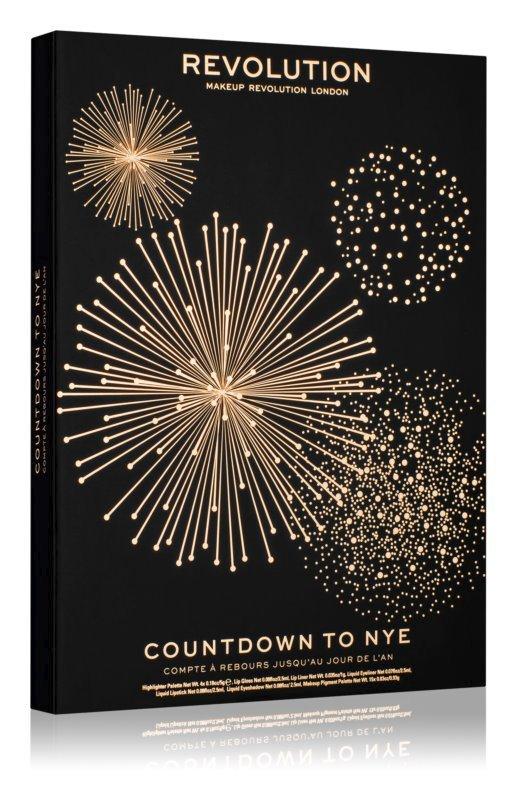 Adventní kalendář s dekorativní kosmetikou, Countdown to NYE, Make-up Revolution, 669 Kč