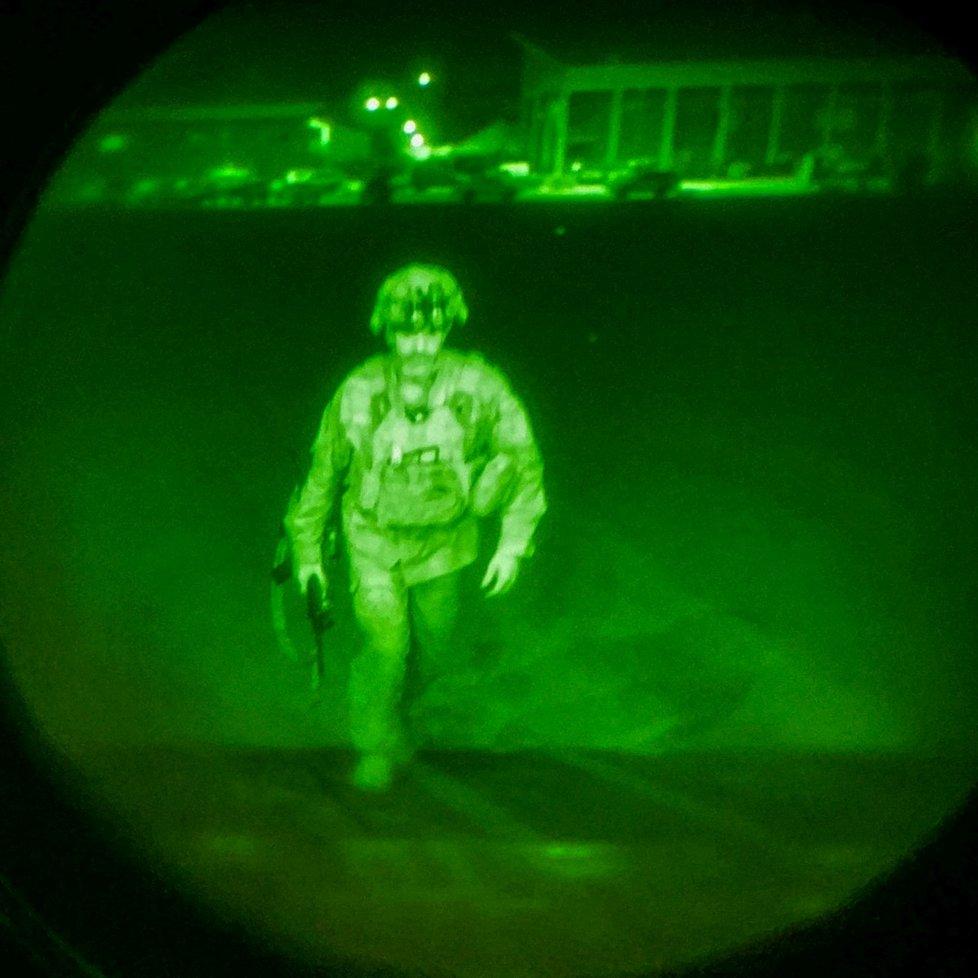 Generál Chris Donahue, poslední americký voják, který opustil Afghánistán (31. 7. 2021)