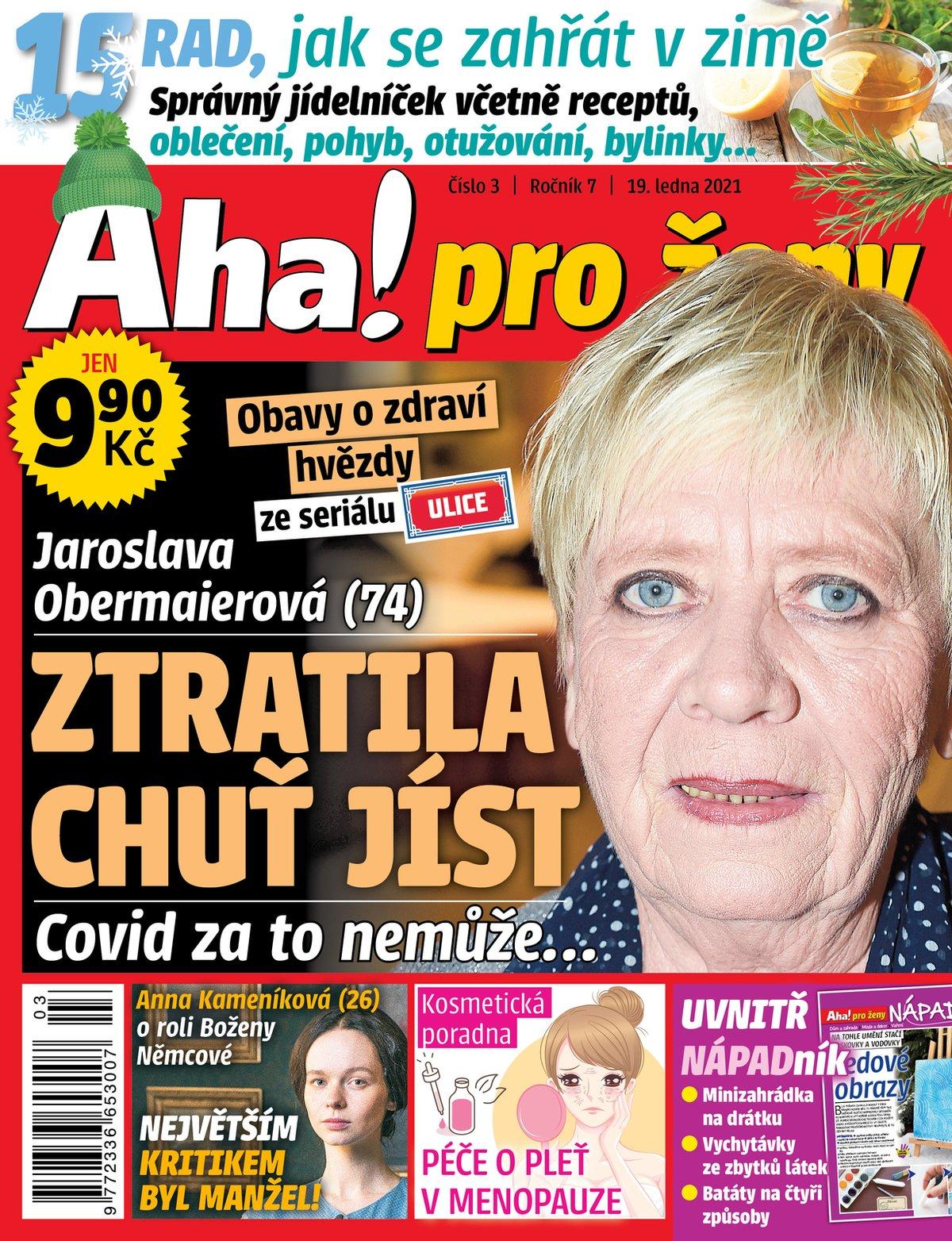 Titulka Aha! pro ženy 3-2021