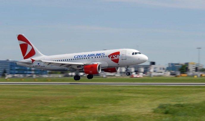 Airbus A319 ČSA na letišti v Praze