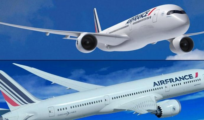 Airbus A350 (nahoře) a Boeing 787 Dreamliner