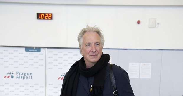 Alan Rickman v Praze