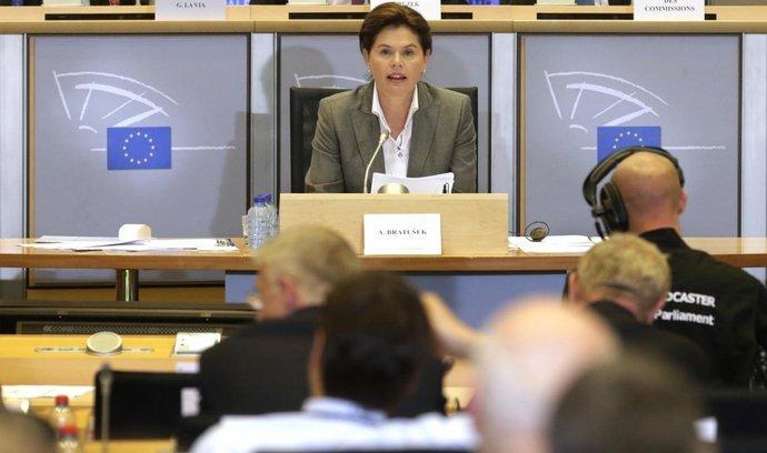 Alenka Bratušeková na slyšení  Evropském parlamentu
