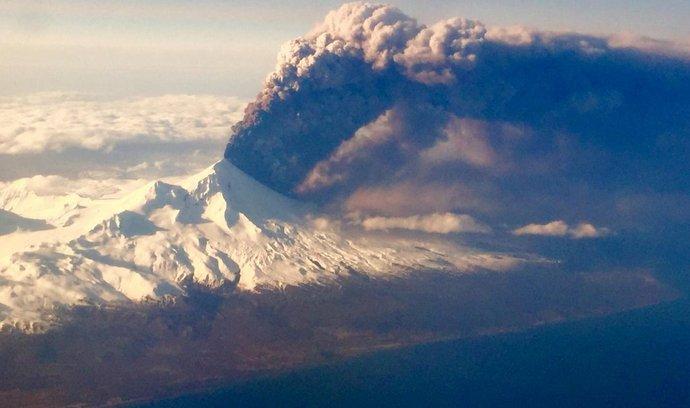 aljašská sopka Pavlof