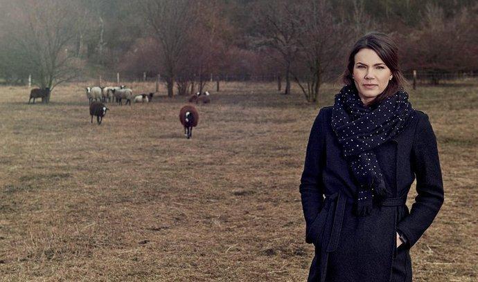 Alžběta s manželem si před nedávnem pořídili stádo třinácti ovcí, aby jim spásalo trávu v meruňkovém sadu.