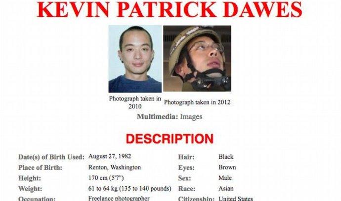 Americký fotograf Kevin Patrick Dawes zajatý v Sýrii
