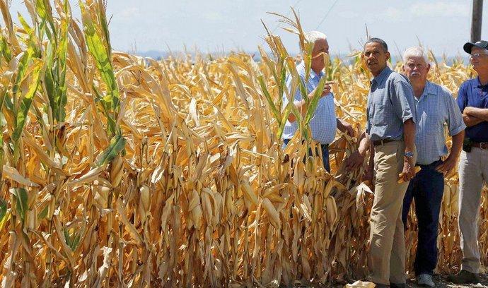 Americký prezident Barack Obama navštívil Iowu, těžce postiženou suchem