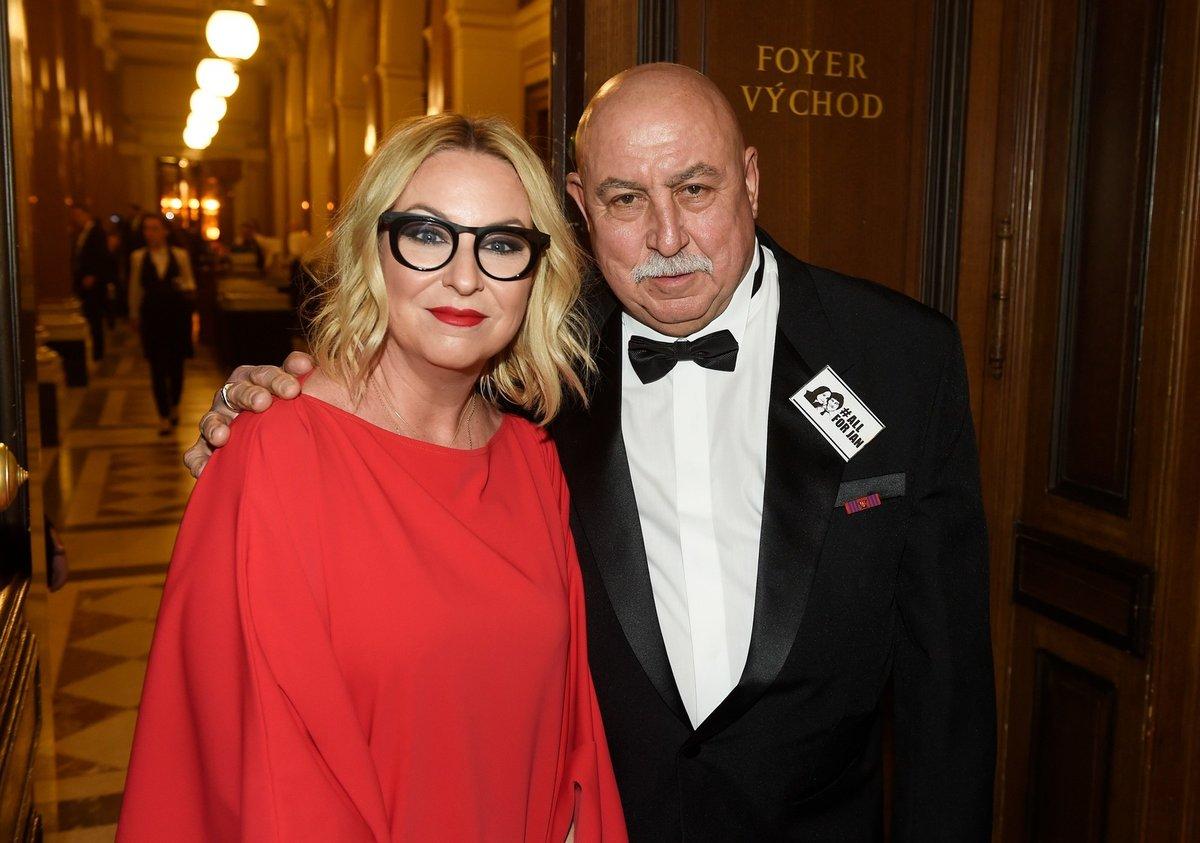 Andrej Hryc s dcerou Wandou Adamik Hrycovou.