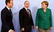 Jednání o Ukrajině v Hamburku: Macron, Merkelová a Putin se shodli na důležitosti příměří