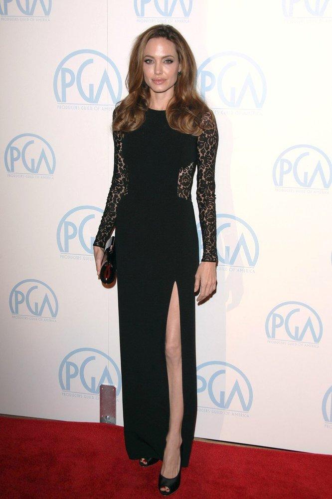 Angelina Jolie na předávání cen Sdružení amerických producentů, rok 2012