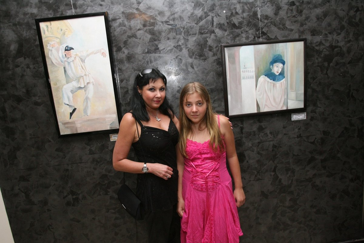Dagmar Patrasová s dcerou v roce 2007