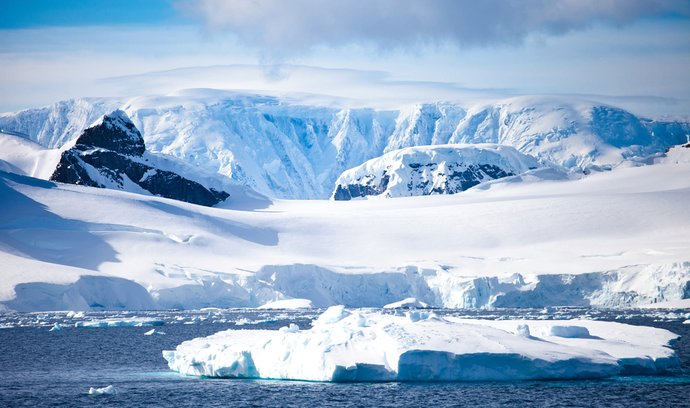 Antarktida, ilustrační foto