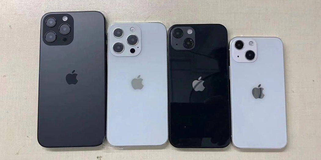 Makety řady iPhone 13 a 13 Pro