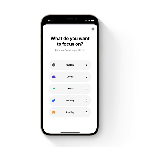 Novinky v iOS 15: Režim soustředění