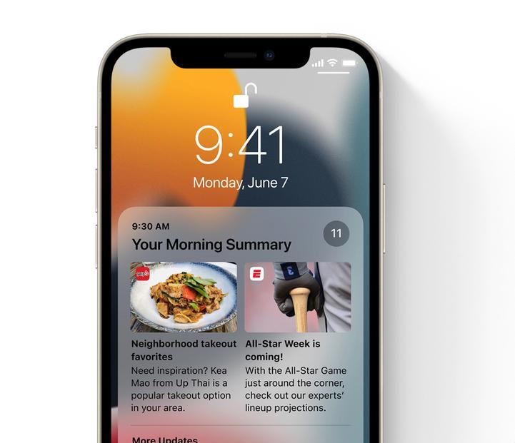 Novinky v iOS 15: Přepracovaná oznámení