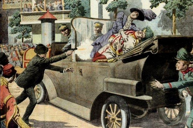 Sarajevský atentát (ilustrace)