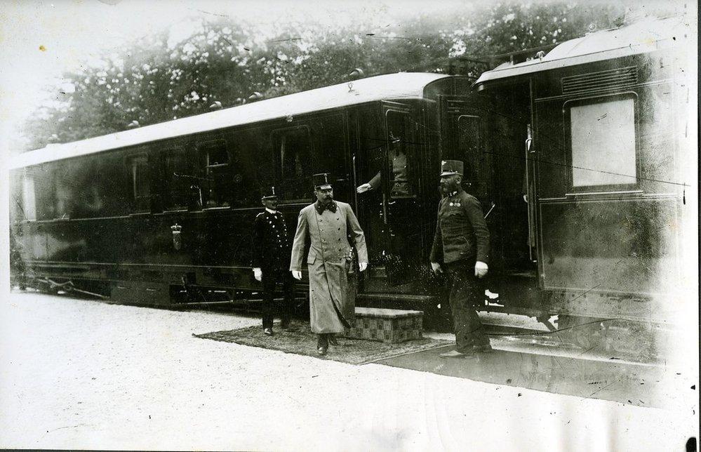 Příjezd arcivévody do Sarajeva