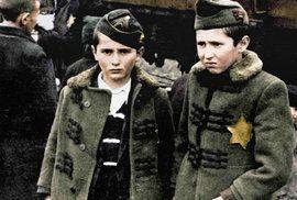 Osvětim v barvě: Unikátní kolorované snímky ukazují nacistická zvěrstva páchaná na Židech