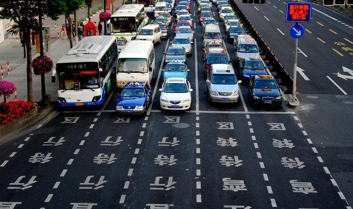 Auta v Číně