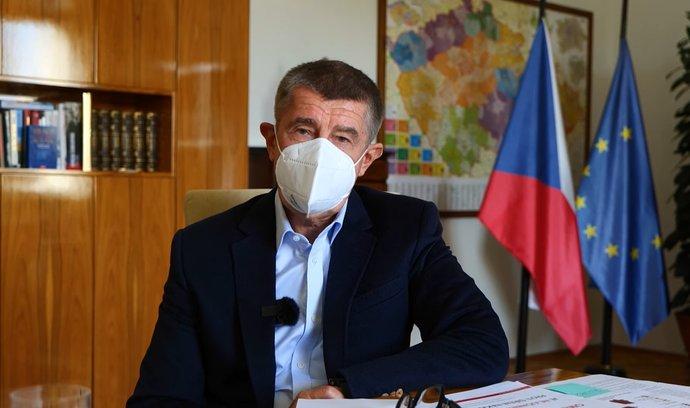 Premiér Andrej Babiš (ANO) promluvil k občanům v pravidelném informačním videu. (25.10.2020)