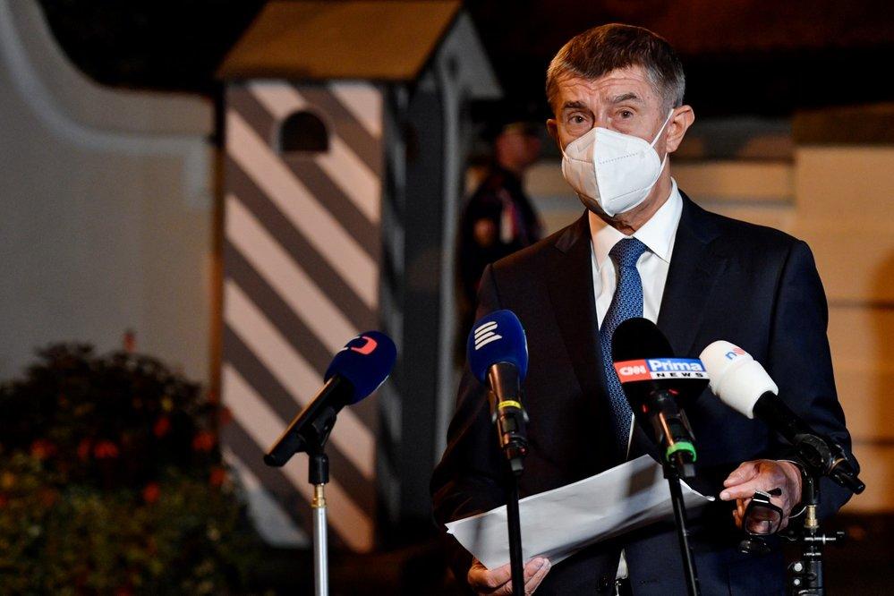 Premiér Andrej Babiš (ANO) po jednání v Lánech (14. 9. 2020)