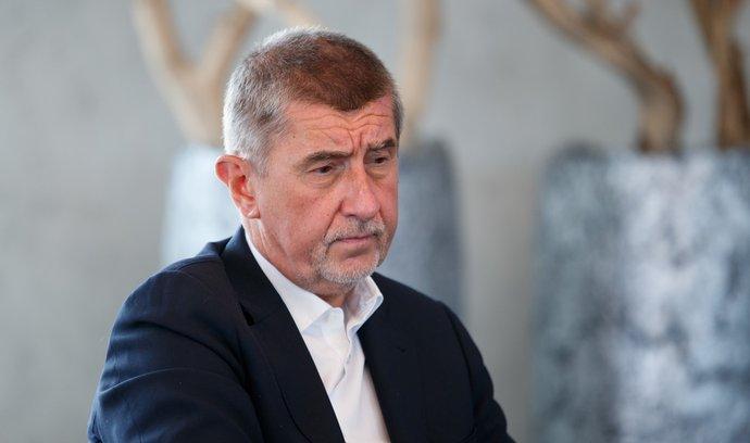 Premiér v demisi Andrej Babiš (ANO)