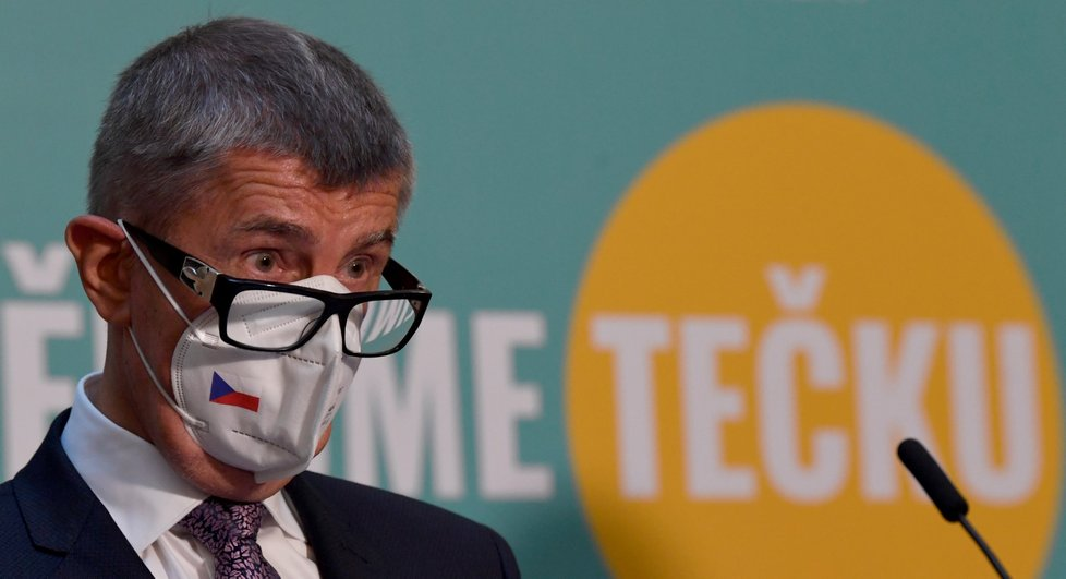 Premiér Andrej Babiš (ANO) vystoupil 30. července 2021 v Praze na tiskové konferenci po mimořádném jednání vlády.