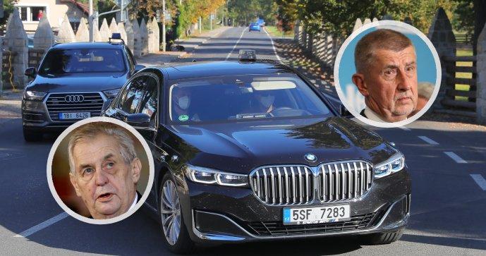 Povolební jednání: Prezident Miloš Zeman přijal premiéra Andreje Babiše (ANO).