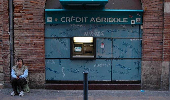 Bankomat Crédit Agricole ve francouzském Toulouse
