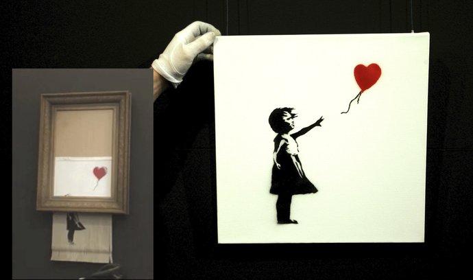 Obraz původně známý jako Dívka s balónkem Sotheby's nabídla poprvé v říjnu 2018, kdy se vydražil se za více než milion liber (29 milionů korun).