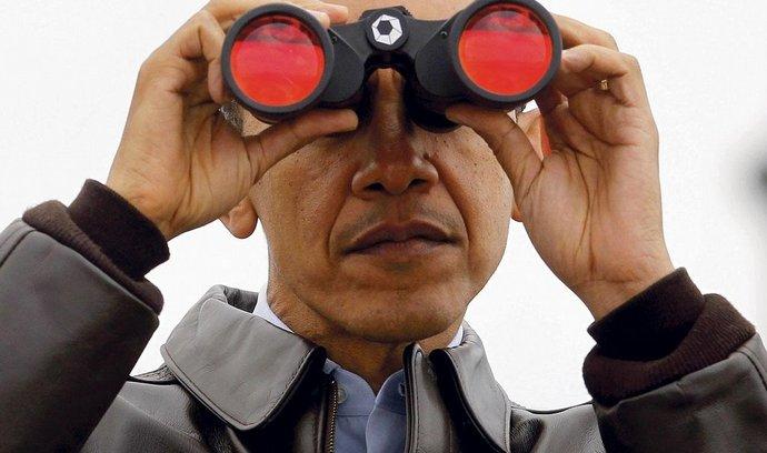 Barack Obama na hranici mezi Severní a Jižní Koreou