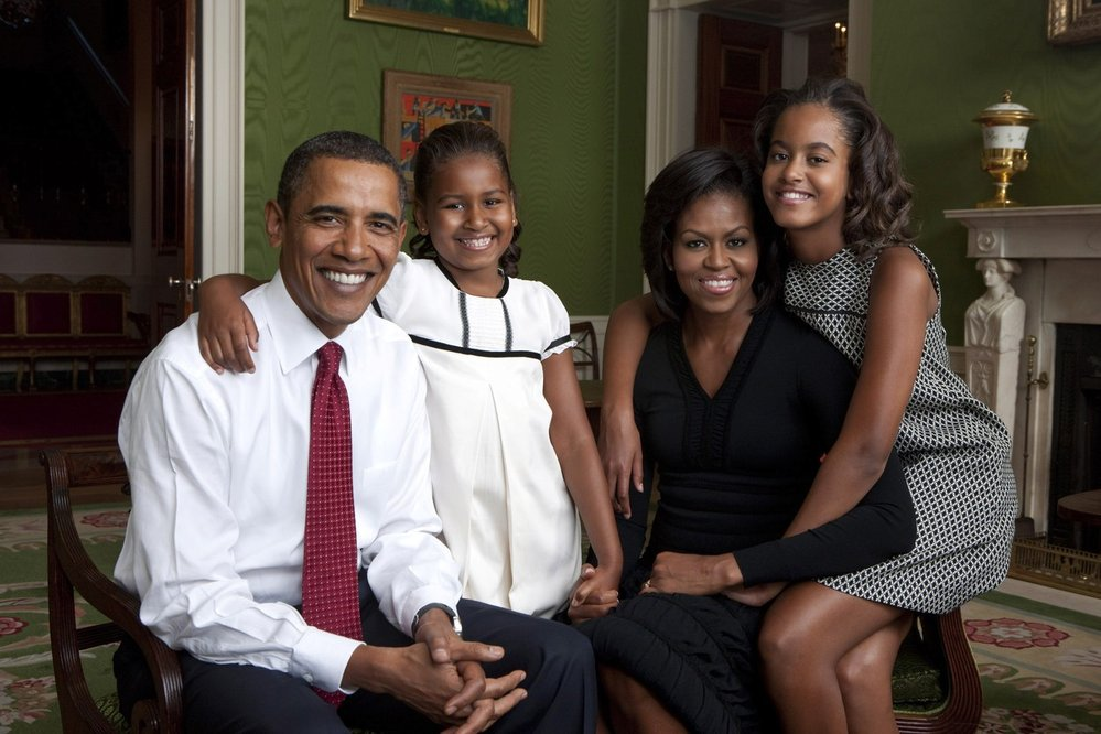 Barack Obama s rodinou